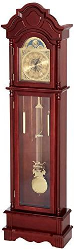 Vintage Grandfather Clock Floor Pendulum Chimes Traditional