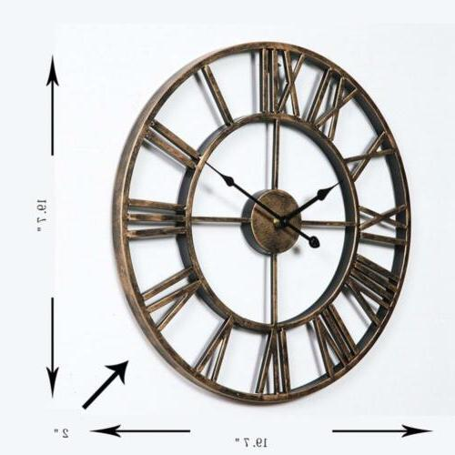 Aero Snail Vintage 20-inch Metal Clock with...