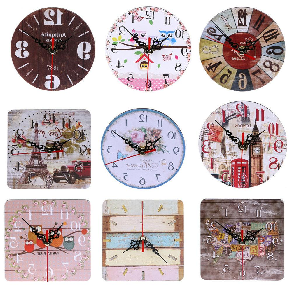 vintage wooden wall clock large shabby chic