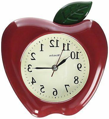 Wall Clock 3D Apple Home Kitchen Decorative Novelty Design A
