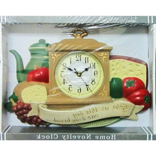 wall clock kitchen dining daily bread design
