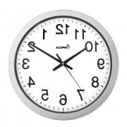 Impecca WCW144S 14 Inch Sweep Movement Wall Clock Silver Fra