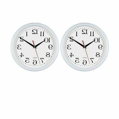 white wall clocks 10 inch set of