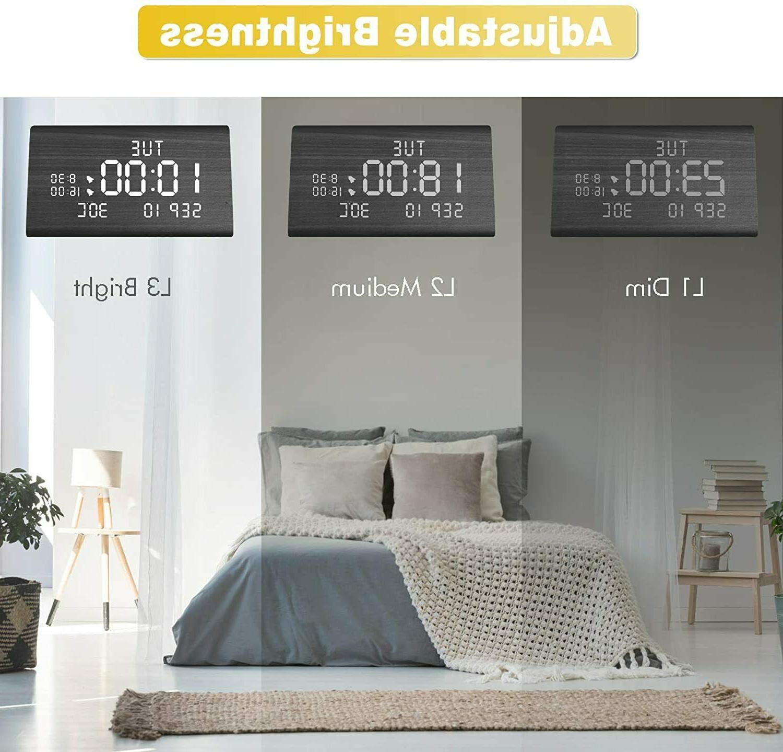 MEKO Digital Alarm LED Display, Levels, Snooze