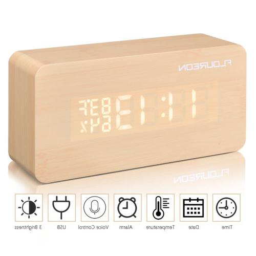 Wooden Desk Alarm Temperature