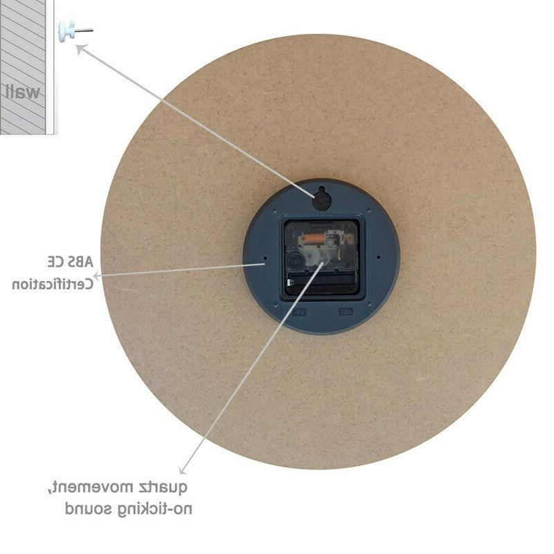 "15"" Clocks Large Home Decor Retro Work"
