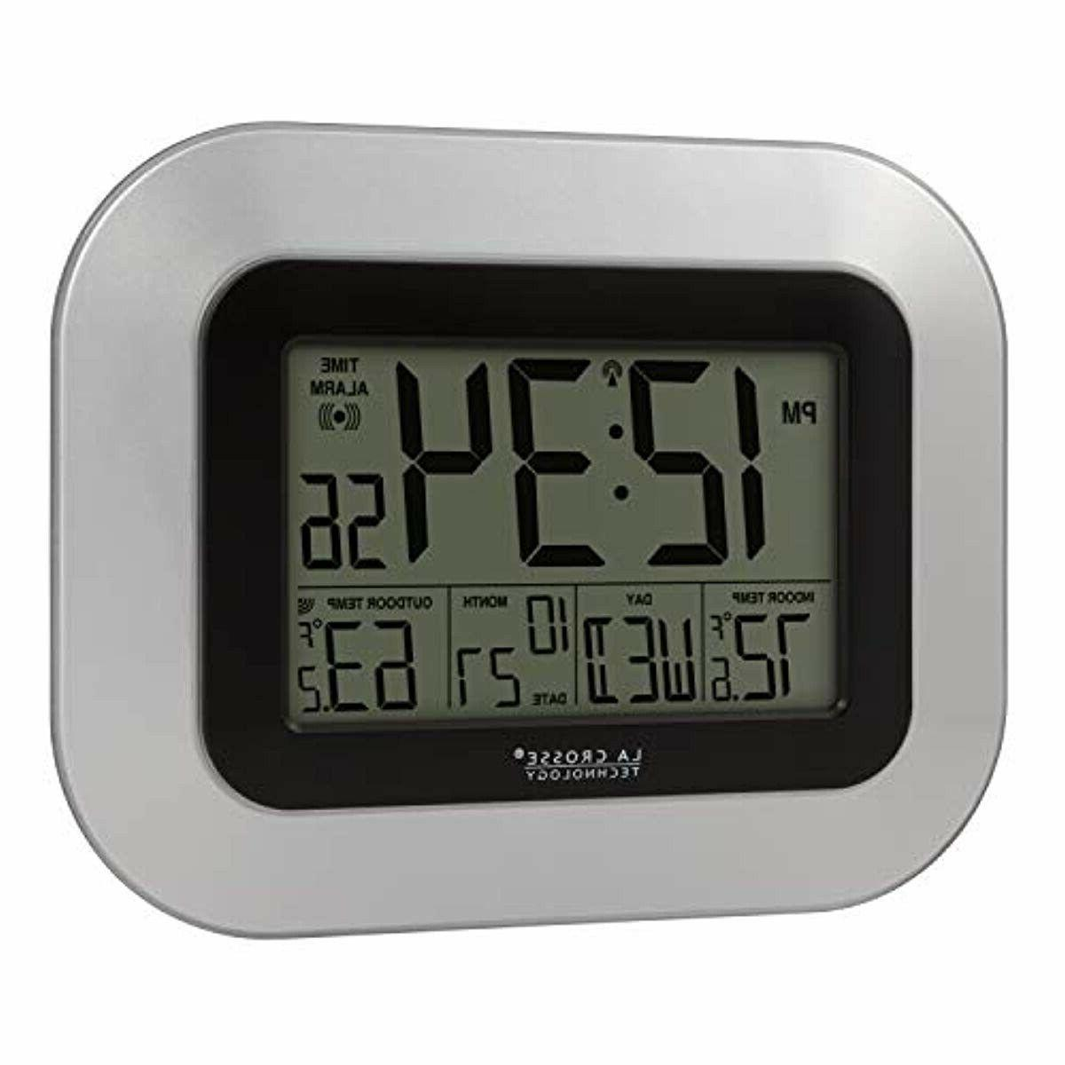 WS-8115U-S-INT Clock Indoor and Outdoor Temperature