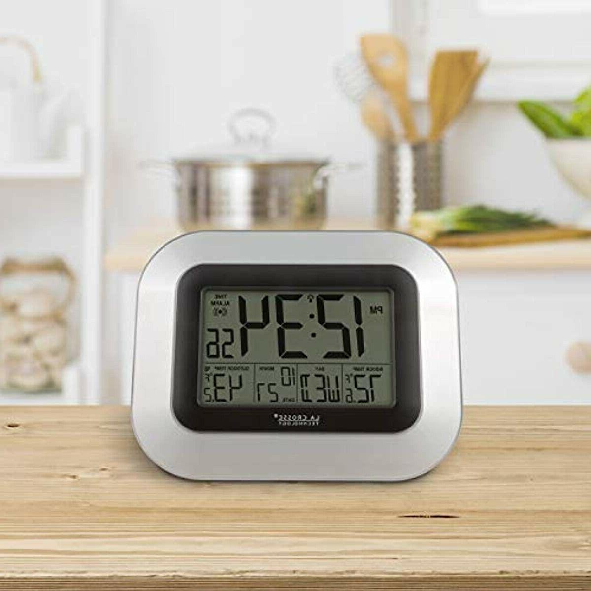 WS-8115U-S-INT Clock with Indoor Outdoor