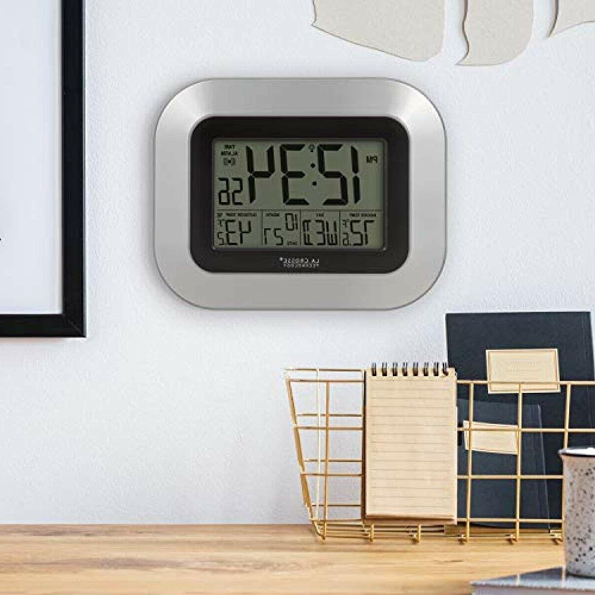 WS-8115U-S-INT Atomic Clock with Indoor Outdoor