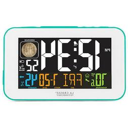 La Crosse Technology 617-1485BL LED Color Alarm Clock with U