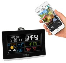 La Crosse Wi-Fi Alarm Clock with Projection and Accu Weather