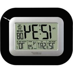 La Crosse Technology WS-8115U-B Atomic Digital Wall Clock-Bl