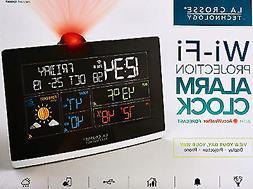 La Crosse Wi-Fi Projection Alarm Clock AccuWeather Forecast