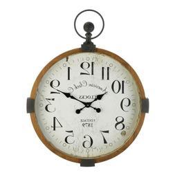 "large 30"" rustic vintage style pocket watch Industrial wood"