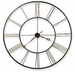 Large Antique Style Wall Clock Rustic Black Office Home Art
