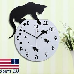 Large Black Wall Clock Home Wall Decoration Kitchen Dining R