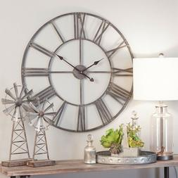 Large Clock Modern Farm House Industrial Round 30 Inch Overs