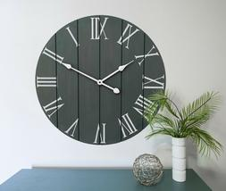Large Decorative Wall Clock - Farmhouse Home Decor - Kitchen