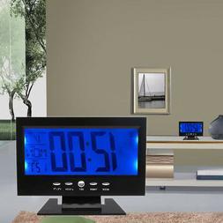 Large Display LCD Digital Table Clock Calendar Temperature A