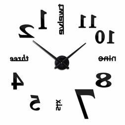 Large European Style Acrylic Mirror Wall Clock For Home Livi