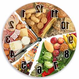 Large Home Décor Wall Clocks Kitchen FOOD GROUPS CLOCK Nuts