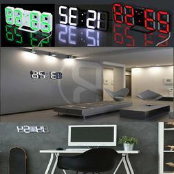 Large Modern Design Digital Led Desk Wall Clock Watch 12/24