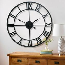 Large Outdoor Garden Wall Clock Antique Big Roman Numeral Ro