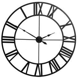 Large Roman Numeral Wall Clock Indoor Outdoor Retro Vintage