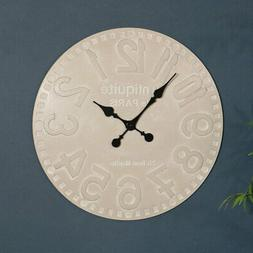 Large rustic wall clock vintage shabby chic home decor acces