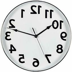 Large Wall Clock, 12 Inch Silent Non Ticking Battery Operate