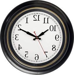 "Bernhard Products Large Wall Clock 18"" Quality Quartz Silent"