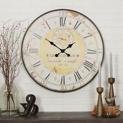 Large Wall Clock Big Vintage Rustic Antique Oversized Distre