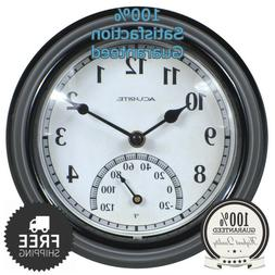 LARGE WALL CLOCK Indoor Outdoor Battery Powered Analog W/ Cl