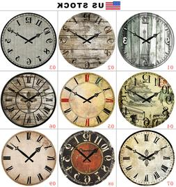 "Large Wall Clocks Home Decor Antique Europe Retro 15"" Room S"