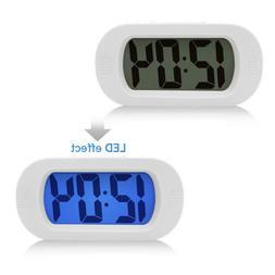 LCD Digital Mini Travel Alarm Clock With LED Night Light Sno