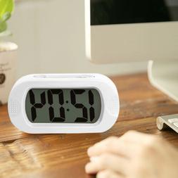 12H Digital LCD Snooze Electronic Alarm Clock W/ LED Backlig