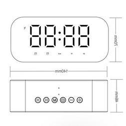 LED Alarm Clock for Bedroom Digital Clock Wireless Bluetooth