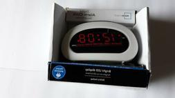 Mainstays LED Digital Alarm Clock Electric w/ Battery Backup