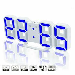 Led Digital Alarm Clock For Desk / Shelf / Tabletop, Modern