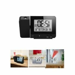 LED Digital Projection Alarm Clock Radio Weather Thermometer