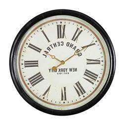 """Uttermost Leonor Dark Bronze 30"""" Round Wall Clock"""