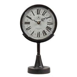 Lily's Home Antique Inspired Decorative Mantle Clock with