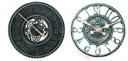 Lily's Home Hanging Wall Clock and Thermometer Set, Steampun