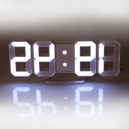 Lily's Home Minimalist LED Clock - Digital Led Desk / Wall C
