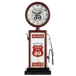 Lily's Home Old Fashioned Route 66 Gas Pump Mantle Clock,