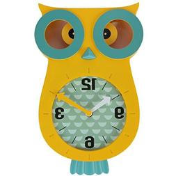 Lily's Home Pendulum Owl Clock with Revolving Eyes and Swing