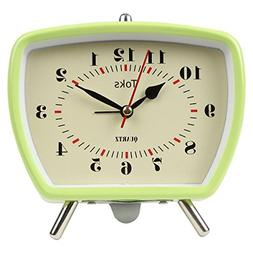 Lily's Home Vintage Retro Inspired Analog Alarm Clock, Loo