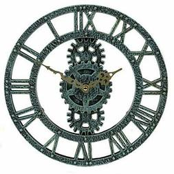 Lily's Home Hanging Wall Clock, Steampunk Gear and Cog Desig