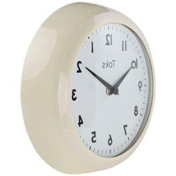 Lily's Home Retro Kitchen Wall Clock, Large Dial Quartz Ti
