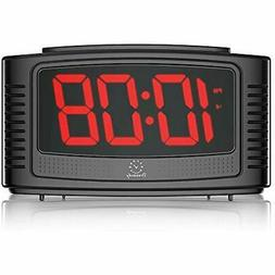 "DreamSky Little Digital Alarm Clock with Snooze, 1.2"" Clear"